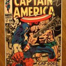 Captain America #106 (B) comic book, 1968, VF condition, Jack Kirby art, Marvel comics