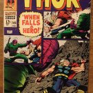 The Mighty Thor #149 comic book, 1967, Marvel Comics, Jack Kirby art, Inhumans story, VG/F condition