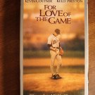 For Love of the Game VHS video tape movie film, baseball, Kevin Costner, Kelly Preston