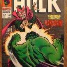 Incredible Hulk #107 (1968) comic book, Marvel Comics, VF condition, Mandarin, Nick Fury