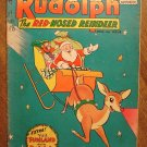 Rudolph The Red-Nosed Reindeer #1(? - no #) (1955) comic book, DC comics, VG condition, Santa Claus