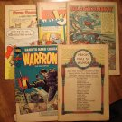 Lot of 5 assorted 1940's & 1950's comic books - war, action, humor, more