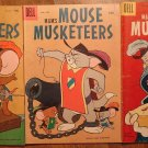 Dell Mouse Musketeers #10 & #14, Four Color Two Mouseketeers #642, 1950's, Tom and Jerry