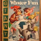 Dell Giant comic - Tom and Jerry's Winter Fun #5 (1956) comic book, VG, Droopy, Spike & Tyke