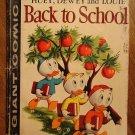 Dell Giant comic - Huey Dewey Louie Back to School #1 (1958) comic book Donald Duck