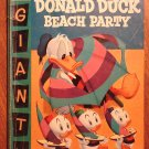 Dell Giant comic - Donald Duck Beach Party #3 (1956) comic book, Good/VG Donald Duck Uncle Scrooge