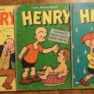 Henry #'s 25, 28 (1952) & 41 (1955) comic book, Dell comics
