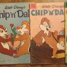 Chip & Dale #'s 6, 8, 17, 25 comic books, Dell comics, all VG condition