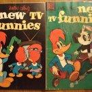 New TV Funnies #272 & 273 (1959) comic book, Dell comics, Woody Woodpecker, Andy Panda