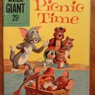 Dell Giant comic - Tom and Jerry Picnic Time #21 (1959) comic book, VG/Fine, Droopy, Spike & Tyke