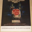 The Return of the Living Dead movie poster, 16x20, never displayed, rolled, Zombies