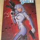 Marvel comics Silver Sable poster, 22x34, rolled, never displayed,