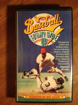 Baseball: Funny Side Up! VHS video tape movie film, MLB goofs, Tug McGraw, Mel Allen