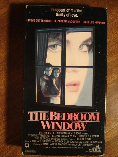 bedroom window vhs video tape movie film steve guttenberg elizabeth