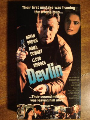 Devlin VHS video tape movie film, Lloyd Bridges, Bryan Brown, Roma Downey