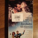 Everbody's All-American VHS video tape movie film, Dennis Quaid, Jessica Lange, Timothy Hutton