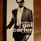 Get Carter VHS video tape movie film, Sylvester Stallone, Mickey Rouke, Michael caine