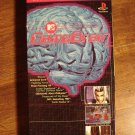 GameBrain VHS video tape Playstation strategy guide, Game Brain, animated