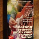 Getting Started with Your Fender Guitar instructional VHS video tape - learn to play!