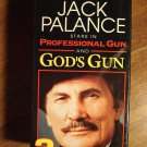 God's Gun & Professional Gun VHS video tape movie film, Jack Palance - 2 tape set w/ slipcase