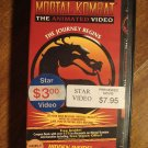 Mortal Kombat ANIMATED - The Journey Begins VHS video tape movie film, 3D