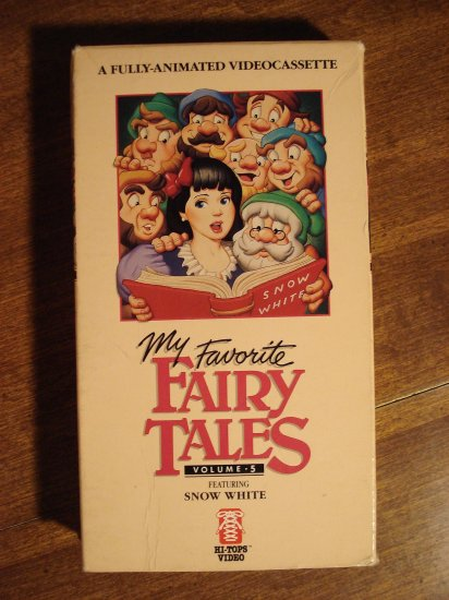 My Favorite Fairy Tales Vhs Animated Video Tape Movie Film