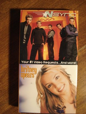 Nsync Amp Britney Spears Vhs Music Video Tape Movie Film Concerts With Behind The Scenes Footage