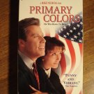 Primary Colors VHS video tape movie film John Travolta (as Bill Clinton) Emma Thompson Kathy Bates