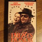 Prizzi's Honor VHS video tape movie film, Jack Nicholson, Kathleen Turner,