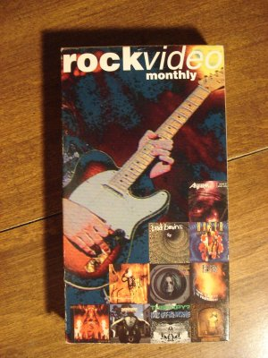 Rock Video Monthly - Heavy metal VHS music tape movie film, Ozzy Osbourne, Anthrax, Sepultura
