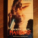 Soroity House Massacre VHS video tape movie film, college girls get sliced & diced!