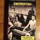 Swordfish VHS video tape movie film, John Travolta, Hugh Jackman, Halle Berry, Don Cheadle