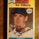 Ted Williams - Greatest Sports legend VHS video tape movie film, video baseball card