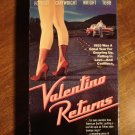 Valentino Returns VHS video tape movie film Frederic Forest, Veronica Cartwright, Jenny Wright