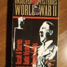 Unsolved Mysteries of World War II (2) VHS video tape movie film, Hitler, Pearl Harbor, much more
