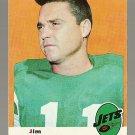1969 Topps football card #29 Jim Turner NM New York Jets