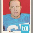 1969 Topps football card #197 Pete Case VG New York Giants