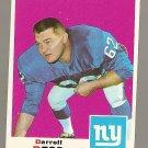 1969 Topps football card #219 Darrell Dess EX New York Giants