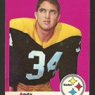 1969 Topps football card #17 Andy Russell VG (water stain on LL corner) Pittsburgh Steelers