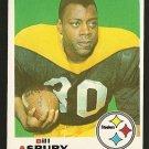 1969 Topps football card #246 Bill Asbury NM Pittsburgh Steelers