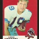 1969 Topps football card #31 Lance Rentzel EX/NM Dallas Cowboys