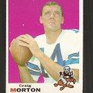 1969 Topps football card #235 (B) Craig Morton VG/EX Dallas Cowboys