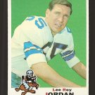 1969 Topps football card #166 Lee Roy Jordan EX Dallas Cowboys
