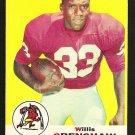 1969 Topps football card #21 Willie Crenshaw VG/EX St. Louis Cardinals