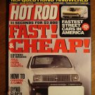 Hot Rod magazine April 2000, 11 seconds for $2000, fastest street cars, V8 Chevette