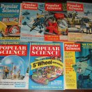 Popular Science magazine - 7 issues from the 1960's - cars, tools, inventions, more