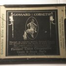 Gossard Corsets glass movie film advertising slide (Magic Lantern)