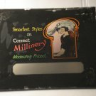 Smartest Styles - Miliinery glass movie film advertising slide (Magic Lantern)