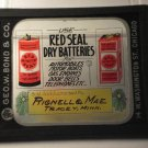 Red Seal Dry Batteries glass movie film advertising slide (Magic Lantern)