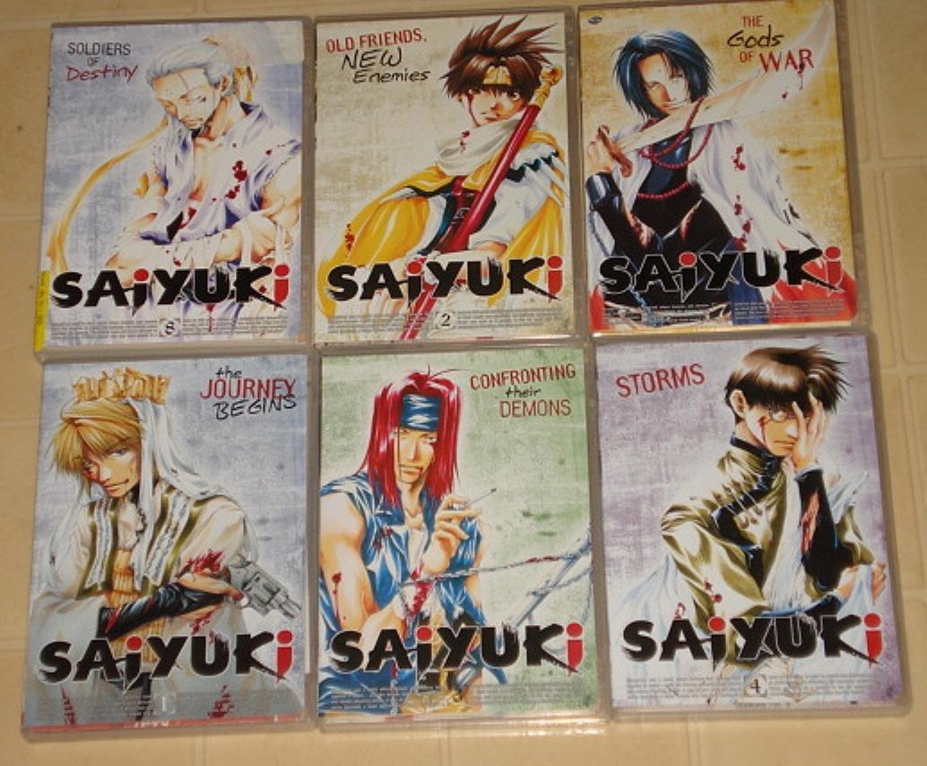 6 Saiyuki DVD Japanese animated manga anime all in fantastic condition!